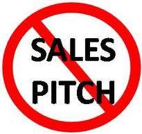 sales pitch-free zone